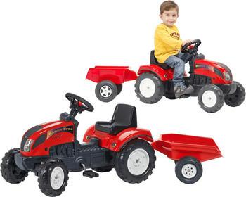 Falk Traktor mit Anhänger 2/5 rot