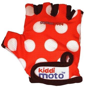 Kiddi moto Kids Bike Gloves Red Dotty