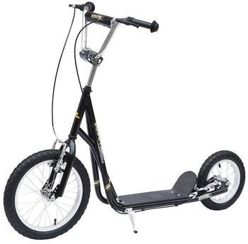 HomCom 12'' Scooter schwarz