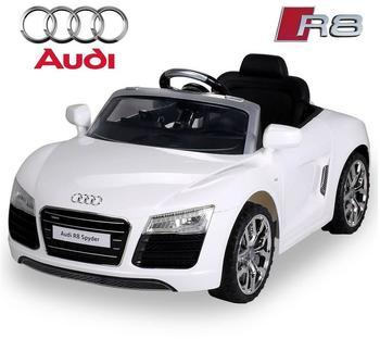 Actionbikes Kinder Elektroauto Audi R8 Spyder Lizenziert weiß (PR0017724-02)