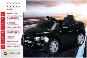 Actionbikes Kinder Elektroauto Audi lizenziert, 2xMotor, 2x6V4AH schwarz