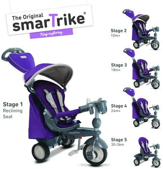 smarTrike Recliner Infinity purple 5in1