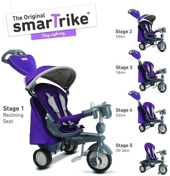 smarTrike Recliner Infinity purple 5in1