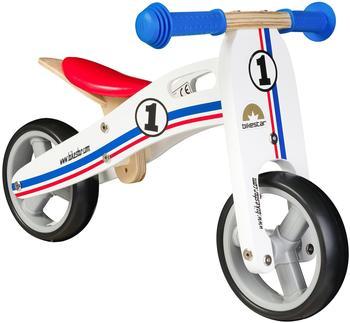 Bikestar Holz Sport weiß/blau