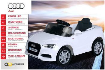 Actionbikes Kinder Elektroauto Audi lizenziert, 2xMotor, 2x6V4AH weiß