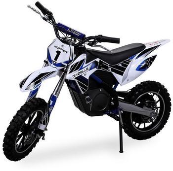 Actionbikes Kinder Mini Elektro Crossbike Gazelle 500 W verstärkte Gabel blau