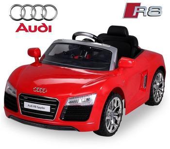 Actionbikes Kinder Elektroauto Audi R8 Spyder Lizenziert rot (PR0017724-01)