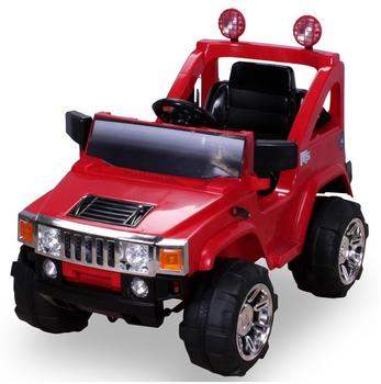 Actionbikes Kinder Elektroauto Hummer Jeep A30 mit 2 x 35 W rot (PR0003656-01)