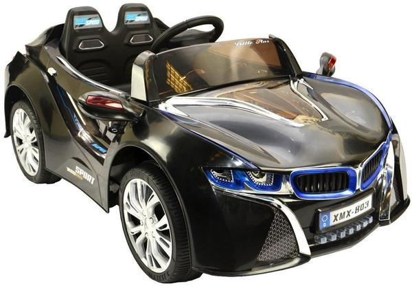 ES-Toys Elektro Auto Concept-2, 2x30W, 2x12V, mit MP3, schwarz (ET3734)