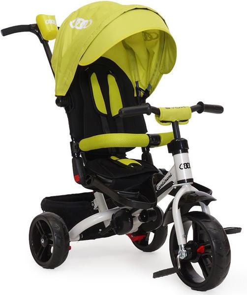 Moni Trade Ltd Tricycle Continent, Dreirad 4 in 1 EVA-Reifen, vielfach verstellbar grün