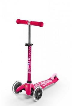 Micro Mobility Mini Micro Deluxe mit LED pink