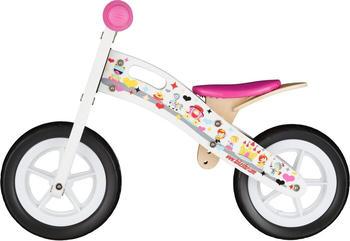 Bikestar mit Trittbrett 10'' prinzessin weiß
