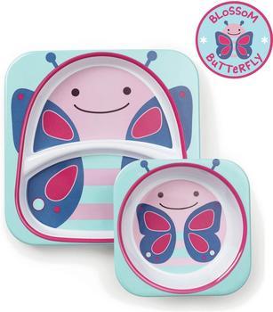 Skip Hop Zoo melamine plate & bowl set Butterfly