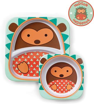 Skip Hop Zoo melamine plate & bowl set Hedgehog