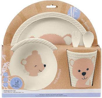 Sterntaler Kindergeschirr-Set mit Bambus Terrybären Baylee rosa