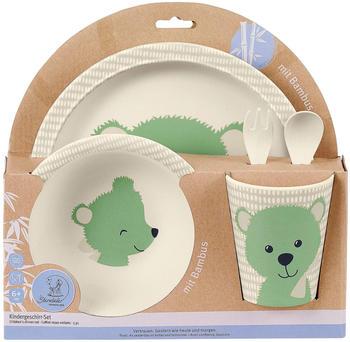 Sterntaler Kindergeschirr-Set mit Bambus Terrybären Baylee grün