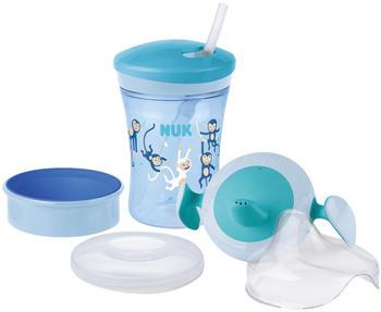 NUK Trinklernset 230 ml blau