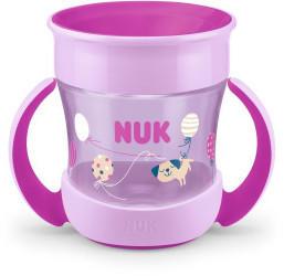 NUK Mini Magic Cup 160 ml mit Trinkrand und Deckel pink