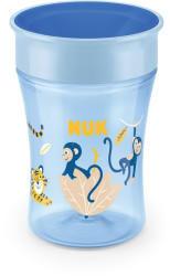 NUK Magic Cup 230ml mit Trinkrand und Deckel Affe hellblau