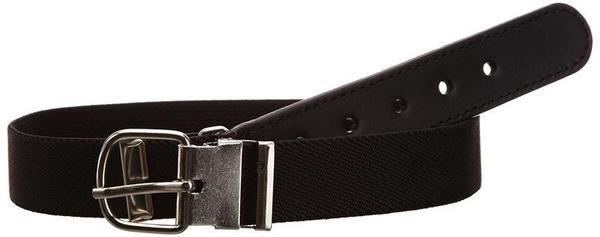 Playshoes Elastischer Kindergürtel mit echtem Leder (601300) schwarz