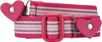 Playshoes Elastischer gestreifter Kindergürtel mit Clips in Herzform (601231) pink/gestreift