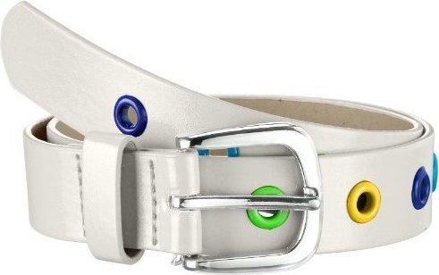 Playshoes Stylischer Kindergürtel mit bunten Ösen (601340) weiß