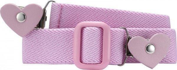 Playshoes Elastischer Kindergürtel mit Clips in Herzform (601230) rosa
