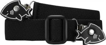 Playshoes Elastischer Kindergürtel mit Clips in Haiform (601220) schwarz