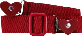 Playshoes Elastischer Kindergürtel mit Clips in Herzform (601230) rot