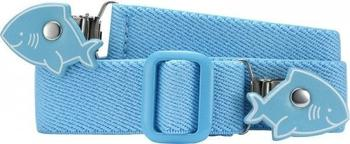 Playshoes Elastischer Kindergürtel mit Clips in Haiform (601220) blau