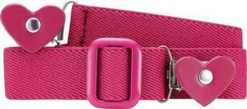 Playshoes Elastik Gürtel Herz-Clip pink
