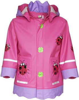 Playshoes Regenmantel Glückskäfer pink