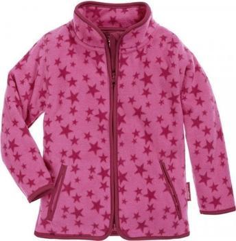 Playshoes Fleece-Jacke Sterne pink (420027)