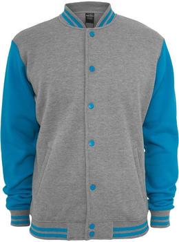 Urban Classics Kids 2-tone College Sweatjacke grey/turquoise