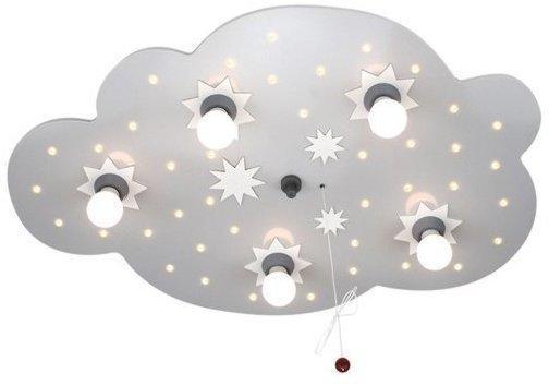 Elobra Sternenwolke 5-flg./40 LED silber