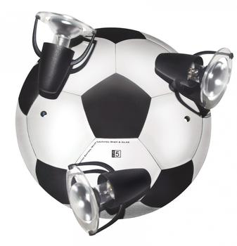 Waldi Fußball 3-flg. schwarz/weiß (65271.0)
