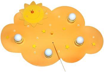 Waldi Sonne 4-flg. LED gelb (66103.0)