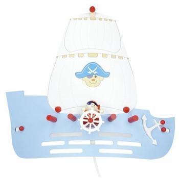 Elobra Wandleuchte Piratenschiff 1-flg. hellblau