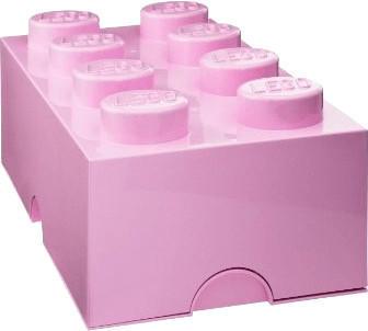 LEGO Aufbewahrungsstein 8 Noppen - rosa