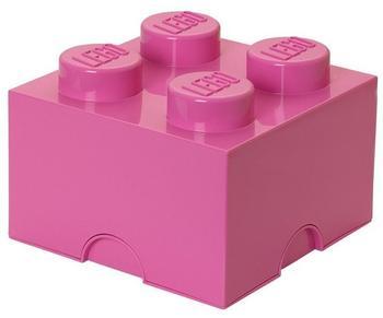 LEGO Aufbewahrungsstein mit 4 Noppen - pink