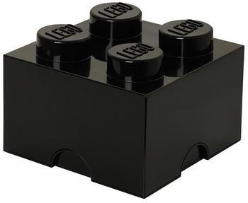 LEGO Aufbewahrungsstein mit 4 Noppen schwarz