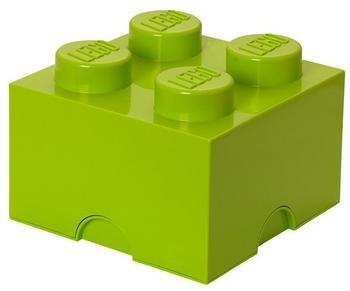 LEGO Aufbewahrungsstein mit 4 Noppen - hellgrün