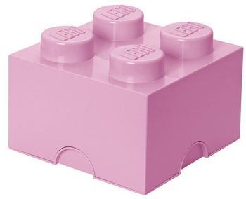 LEGO Aufbewahrungsstein mit 4 Noppen - hellrosa