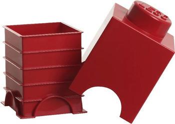 LEGO Aufbewahrungs-Box 1 x 1 (rot)