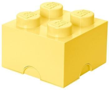 LEGO Aufbewahrungsstein mit 4 Noppen - coolgelb