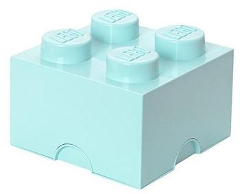 LEGO Aufbewahrungsstein mit 4 Noppen - aqua