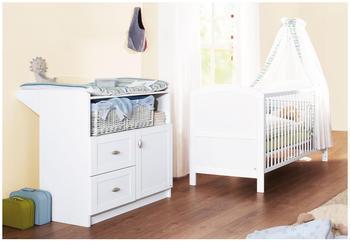 Pinolino Sparset: Kinderbett + Wickelkommode Laura