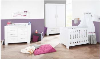 Pinolino Kinderzimmer Ice breit 3-tlg. (Wickelkommode breit) (Kleiderschrank 2-trg.)