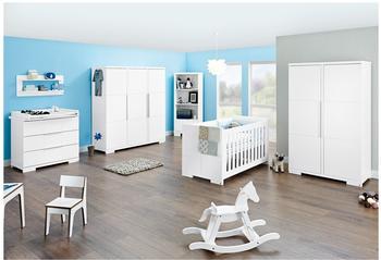 Pinolino Kinderzimmer Polar (Wickelkommode breit) (Kleiderschrank 3-trg.)