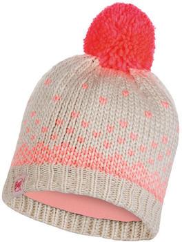 Buff Knitted & Full Polar Hat Hilda melange cru